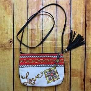 Brighton glitter and go tassel crossbody purse